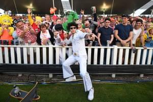Andrew Flintoff performs as Elvis during the NatWest T20 Blast Finals Day at Edgbaston, Birmingham, UK