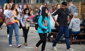 Undergraduate students at Aberystwyth University, 2019.