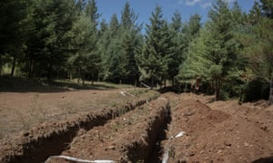 Excavations in search of a mass grave are taking place in field at the former Colonia Dignidad.