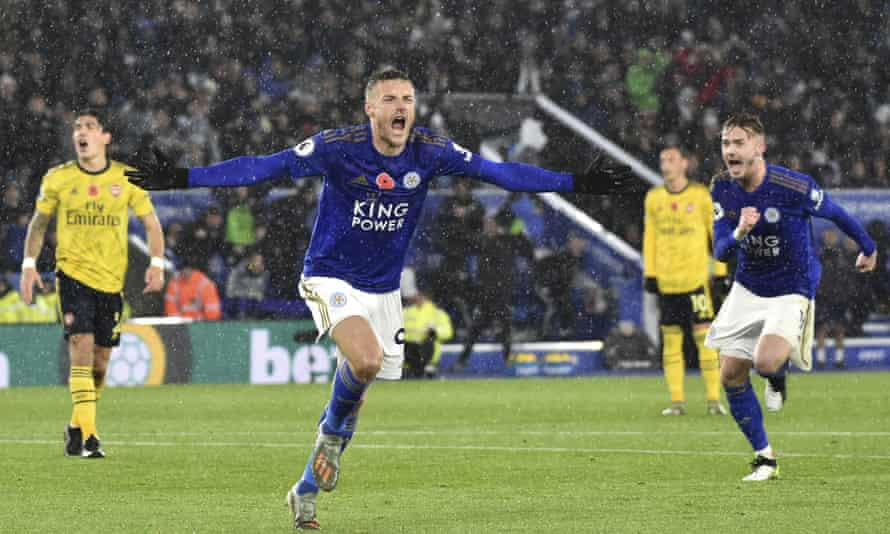Jamie Vardy goes in search of his 12th league goal this season, as Leicester visit Brighton.