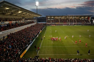 A packed stadium during the Ulster v Racing 92 European Champions Cup group stage match at the Kingspan Stadium in Belfast.