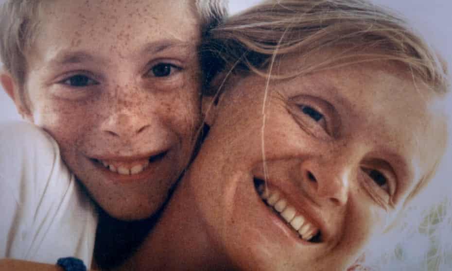 Sophie Toscan du Plantier with her son Pierre-Louis
