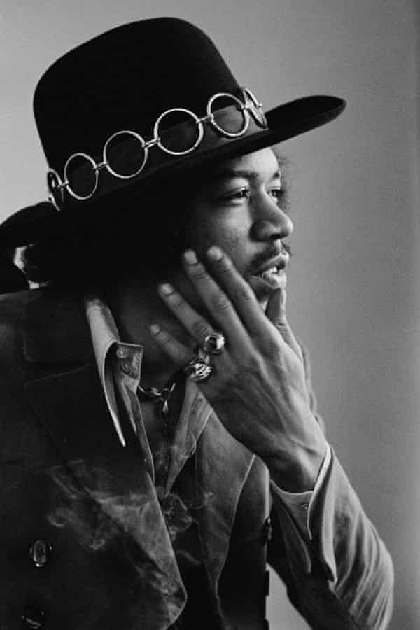 Jimi Hendrix in San Francisco, February 1968.