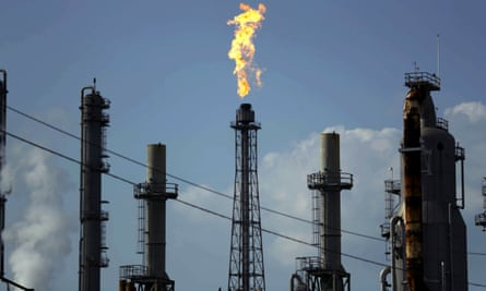 Shell Deer Park oil refinery in Texas