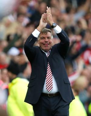 Sam Allardyce, a happy man.