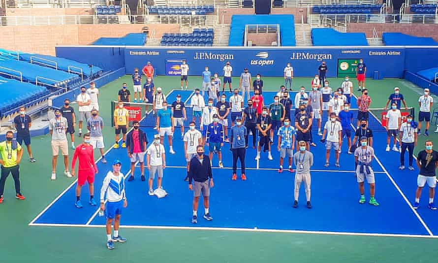Novak Djokovic fronts the newly formed Professional Tennis Players' Association, a breakaway group from the ATP which gathered on a Flushing Meadows court on Saturday.
