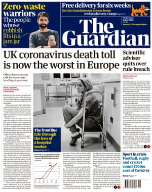 Guardian front page, Wednesday 6 May 2020