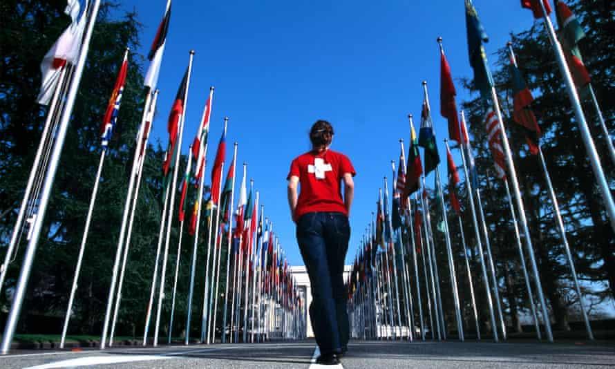 The United Nations headquarters in Geneva