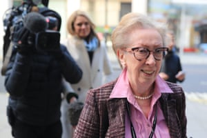 London, UK: Margaret Beckett arrives at the Labour party offices in Westminster before a meeting of the party's national executive committee to set the leadership contest timetable
