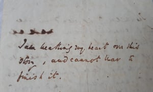 Charles Dickens's note about his sadness over the death of his sister-in-law, Mary Hogarth.