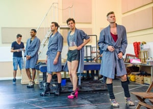 Kinky boots rehearsal