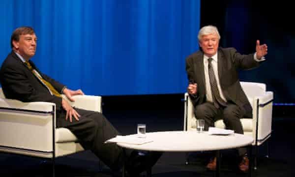 Culture secretary John Whittingdale and BBC director-general Tony Hall.