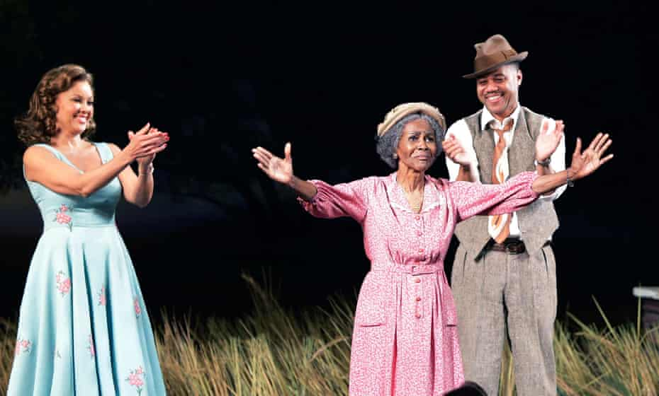 Vanessa Williams, Cicely Tyson and Cuba Gooding Jr on the opening night of The Trip to Bountiful on Broadway.