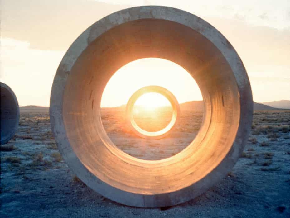 Framing the solstice … Nancy Holt's Sun Tunnels in the Great Basin Desert, Utah.