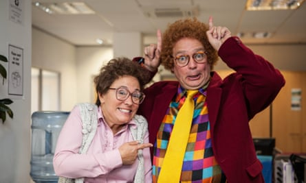 Charlie Higson and Arabella Weir in the Fast Show.