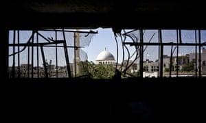A damaged building in Aleppo, Syria.