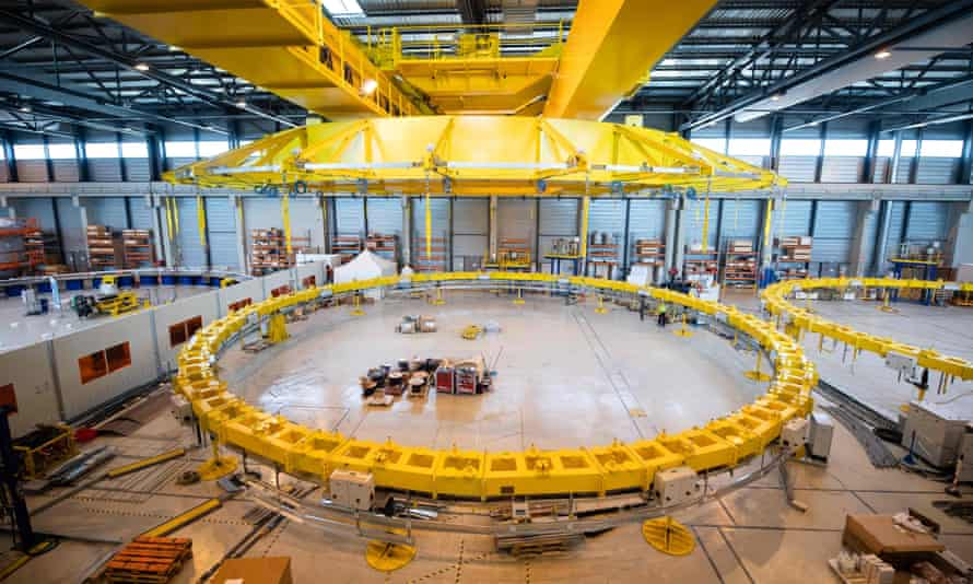 Construction of the magnetic Tokamak of the International Thermonuclear Experimental Reactor (Iter) in south-eastern France. The project is a collaboration between 35 countries.