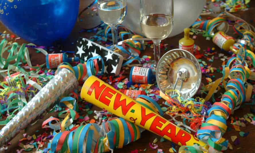 aftermath of a New Years eve party