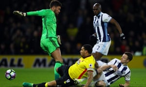 Troy Deeney scores for Watford v West Bromwich Albion