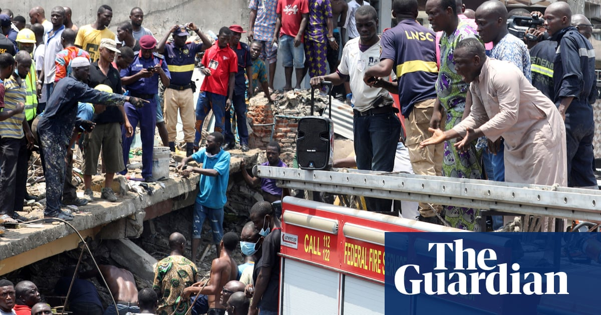 Children trapped after fatal building collapse in Nigeria - The Guardian