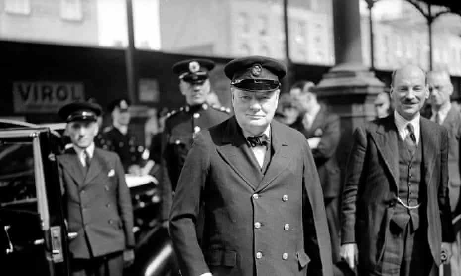 Churchill with Attlee, right, in 1942.