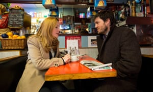 'Perky dialogue': Holliday Grainger and Tom Burke in Strike: The Cuckoo's Calling.