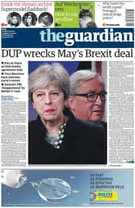 Guardian front page, Tuesday 5 December 2017