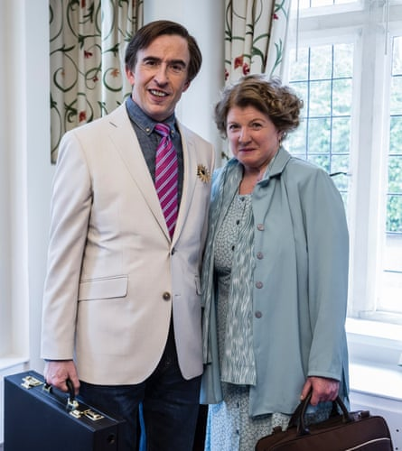 with assistant Lynn, during This Time with Alan Partridge.