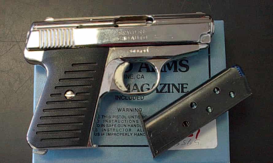 A .380 caliber handgun.