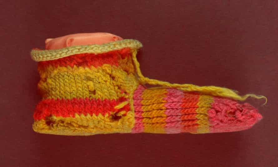 Ancient Egyptian stripy sock
