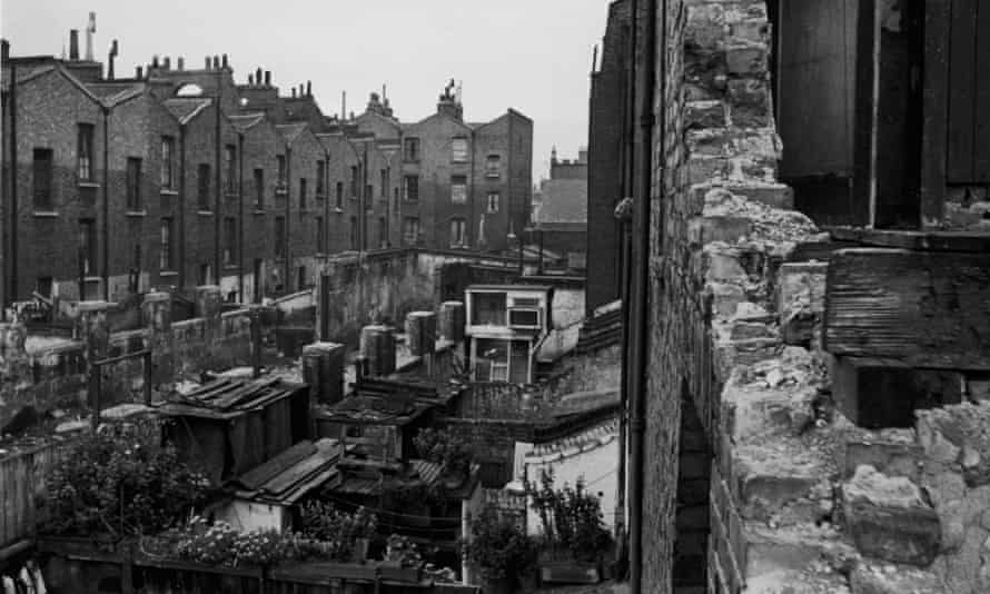 Slum housing in Hoxton, 1946. With much of London's housing stock in poor condition following the second world war, new towns held out the promise of a better life for many.