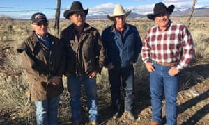 Todd Macfarlane (far right), a nonvoter, with fellow ranchers in Utah.