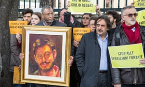 A demonstration in Rome over the death of Giulio Regeni.
