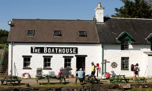 The Boathouse cafe and restaurant.