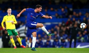 Chelsea's Danny Drinkwater has a shot against Norwich in the FA Cup