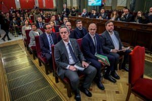 Catalan leaders at the supreme court in Madrid