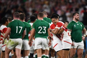 Joy for Japan, but dejection for Ireland.