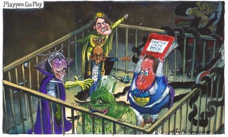 Martin Rowson on David Cameron attacking Boris Johnson – cartoon