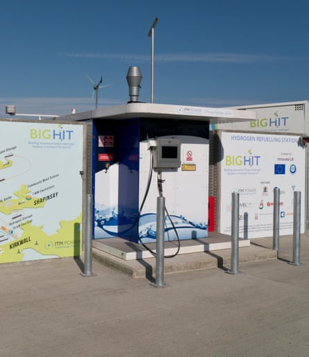 a hydrogen refuelling station at kirkwall