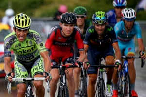 <strong>Stage Twelve</strong><br>Stage Location: Lannemezan to Plateau de Beille<br>Stage Winner: Joaquim Rodriguez<br>Tinkoff-Saxo's Alberto Contador shows his determination to break from the other GC contenders, BMC's Tejay van Garderen, Movistar's Alejandro Valverde and Astana's Vincenzo Nibali