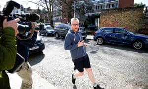 The environment secretary, Michael Gove, outside his home in London