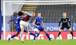 Aston Villa's Ross Barkley strikes late to sink Leicester and keep up 100%  record   Football   The Guardian
