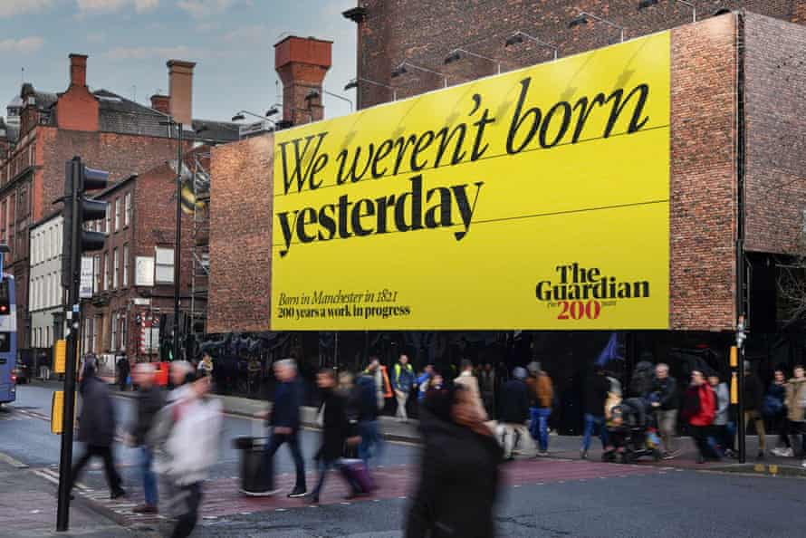 The Guardian 200th anniversary advertising creative 'We weren't born yesterday'