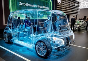 Frankfurt, GermanyA transparent van is displayed by a vendor for safety devices at the IAA Auto Show