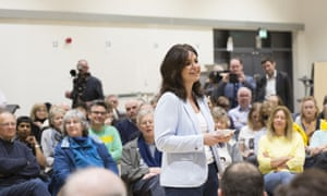 The Independent Group's interim leader, Heidi Allen, holds the group's first public meeting in her South Cambridgeshire constituency on 30 March 2019.