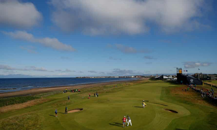 The first green at Royal Troon.