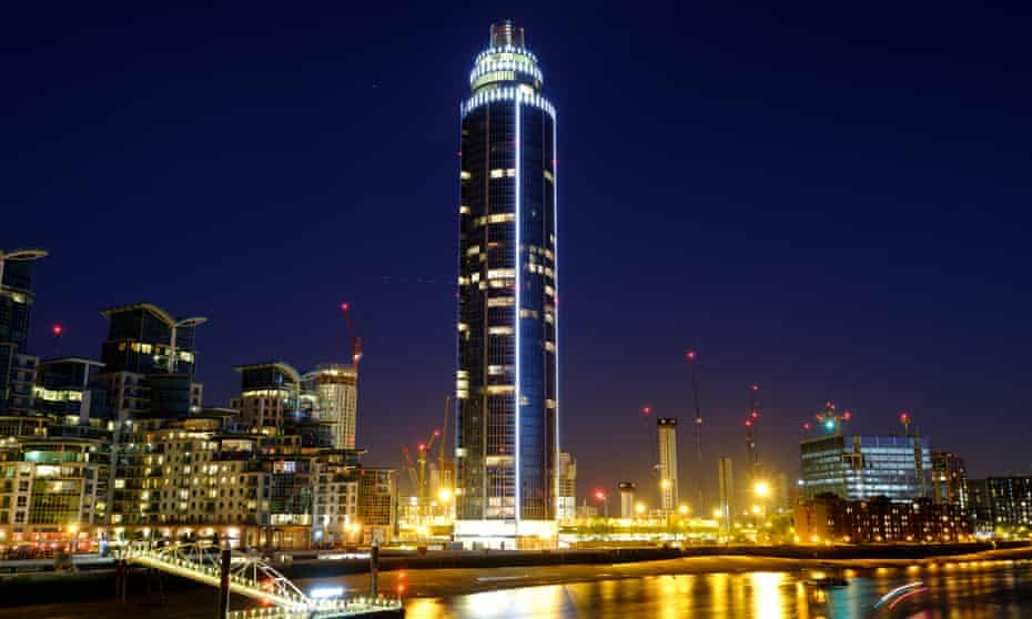 A Guardian investigation revealed a quarter of apartments in the Tower at St George's Wharf, London, had offshore owners.