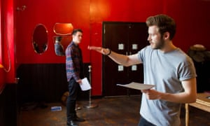 William Frazer and Wilson James in rehearsals for the revival of The Local Stigmatic at the Old Red Lion theatre in London.