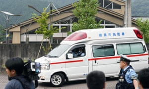 Ambulance outside building in Sagamihara, japan