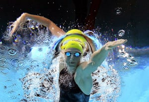 Cate Campbell of Australia swims in the women's 100m freestyle semi-final during the 2018 Commonwealth Games.